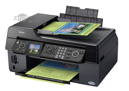Новинка от Epson выполнена в классическом дизайне и предлагает своему владельцу функции принтера, копира, факса и сканера