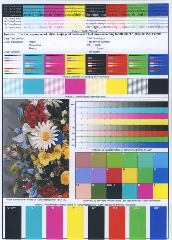 МP460. Цветная печать: текст и графика