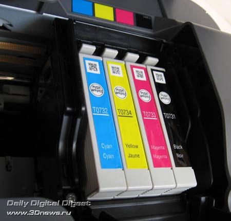 Картриджи установленные в Epson CX3900