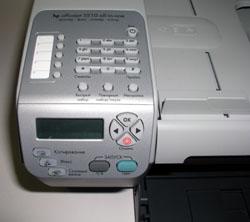 Панель управления HP Officejet 5510