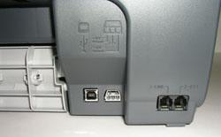 Разъемы на задней панели HP Officejet 5510