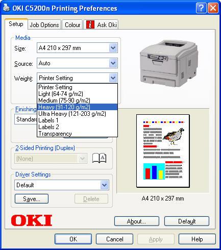 Выбор плотности бумаги — температуры печки