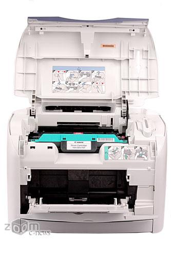 В открытом состоянии принтер становится еще больше