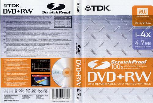 TDK DVD+RW 4x ScratchProof DVD-BOX