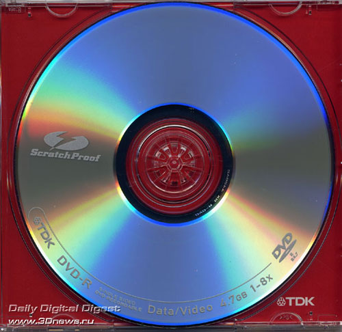 TDK DVD-R 8x ScratchProof