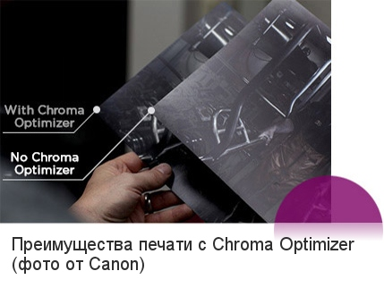Печать с Canon Chroma Optimizer