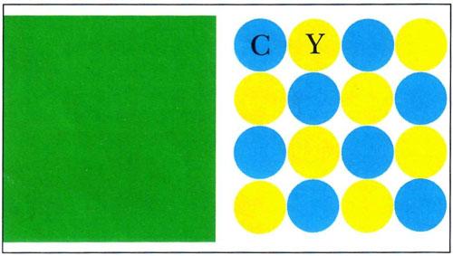 Повышение разрешения печати дает возможность создать в ячейке растра матрицу из микроточек