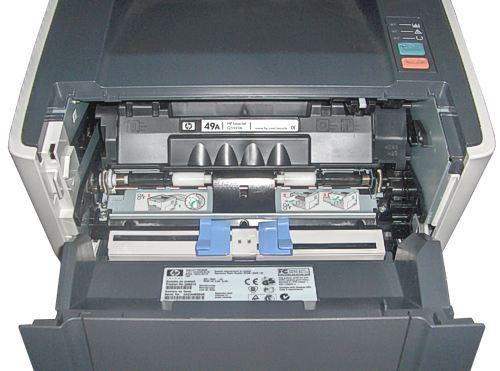 Установка картриджа в Hewlett-Packard LaserJet 1320