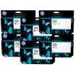 Комплект картриджей HP 727 (C,M,Y,pK,mK,G) для HP DesignJet T920/T1500/T2500, 6шт x 130мл