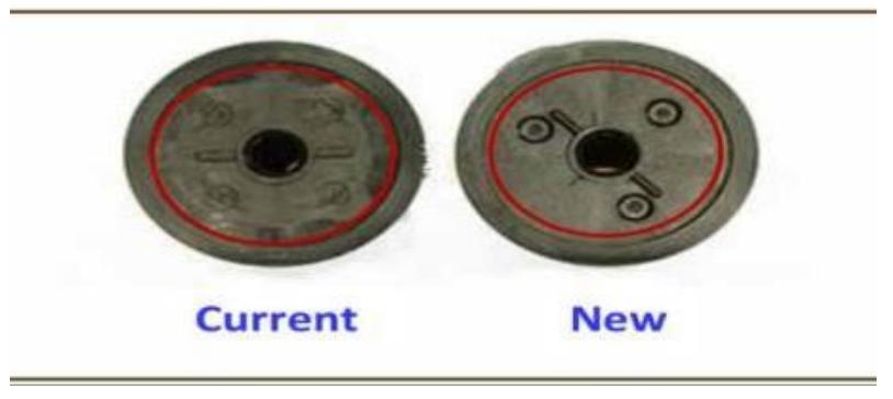 Компания «Static Control» изменила внешний вид контактной стороны барабана для  картриджей HP LJ2410/2420/2430. Это не затронуло функциональности деталей. Отличие  предыдущего и нового дизайна можно увидеть на фотографии ниже. Будьте внимательны!