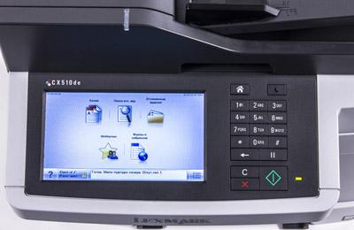 Принтер Lexmark CX510de, панель управления