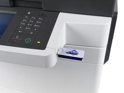 Цветной принтер Lexmark CX510de, работа с накопителями USB-flash