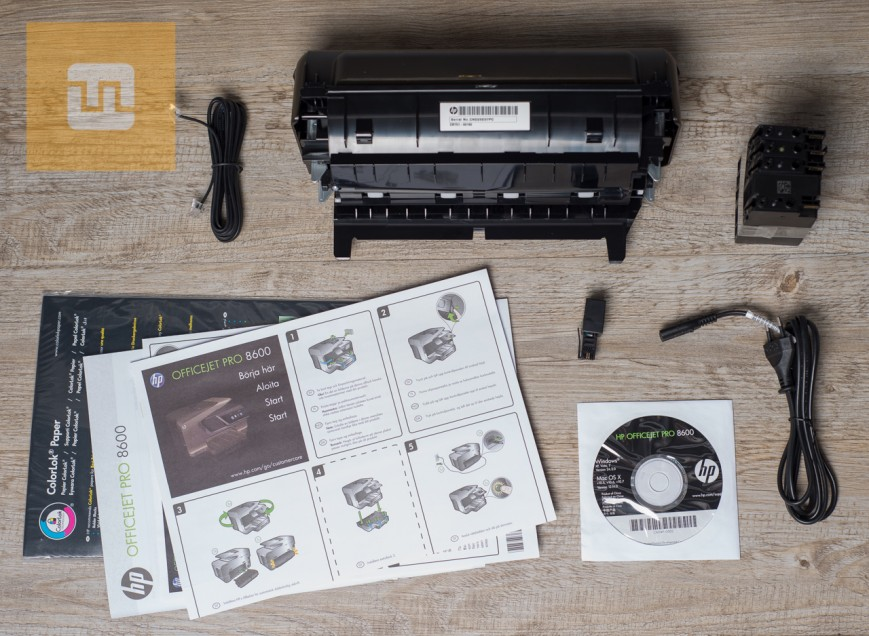 Комплект поставки HP OfficeJet Pro 8600 Plus