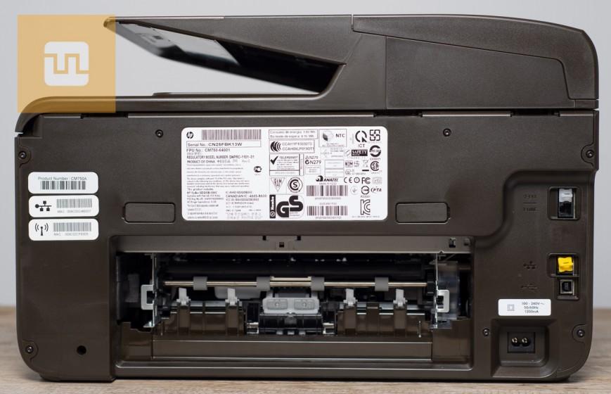 Задняя сторона HP OfficeJet Pro 8600 Plus