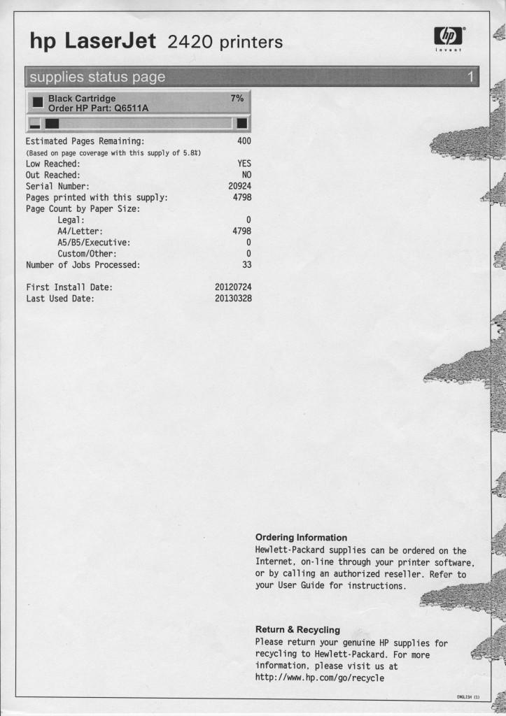 HP LJ2420 (Q6511A).
