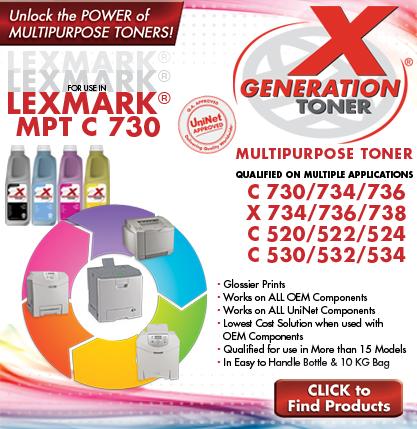 Материалы для заправки и восстановления картриджей Lexmark C730, C734, C736