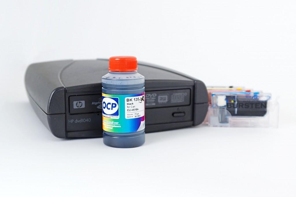 Чернила OCP BK 135 - лучший выбор для печатающих на CD/DVD-дисках.
