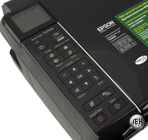 Epson Stylus TX550W. Панель