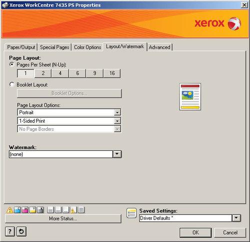 XEROX WorkCentre 7435. ПО