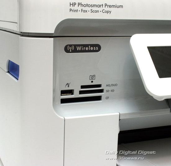 HP Photosmart Premium c309a. Устройство чтения карт памяти