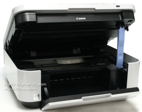 Canon PIXMA MX340. Вид общий с поднятым модулем сканера