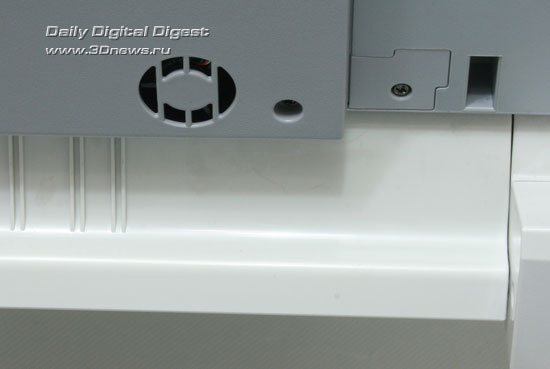 OKIMC360. Кулер на днище сканера