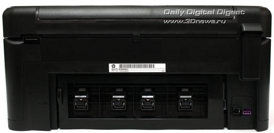 HP Photosmart Plus b209a-m. Вид сзади
