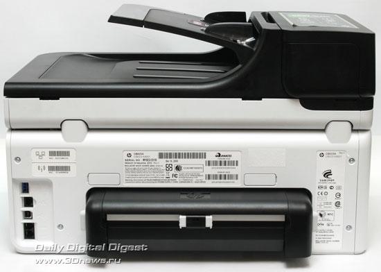 HP Officejet Pro 8500 Wireless (a909g). Вид сзади. Модульдвухсторонней печати установлен