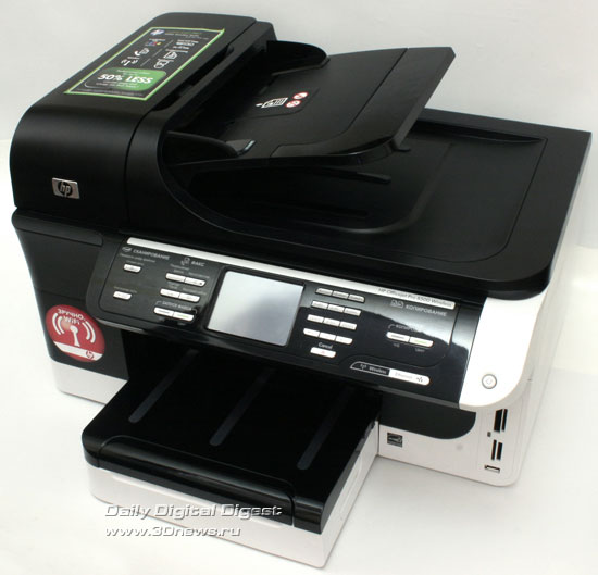 HP Officejet Pro 8500 Wireless (a909g). Вид сверху