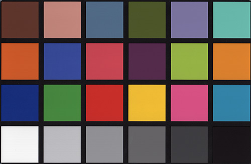HP Photosmart PLUS B209a-m. калибровочная таблица Munsell ColorChecker