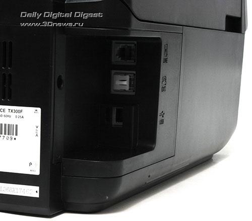 Epson Stylus Office TX300F. Коммуникационные разъемы
