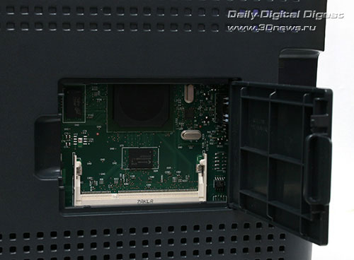 HP Color LaserJet CP1515n. Отсек установки модулей памяти