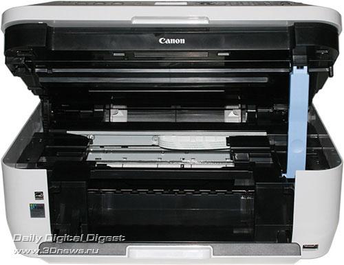 Canon PIXMA MX330. Вид спереди с приподнятым сканером (Доступ к картриджам)