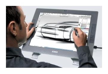 Рисование на графическом планшете Wacom Cintiq 21UX