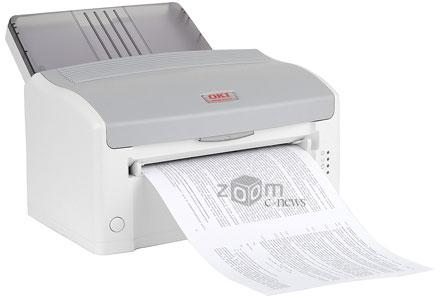 Скорость печати B2200 в обычном режиме составляет 20 стр/мин и около 33 стр/мин в черновом; в обоих случаях при 5% заполнении листа