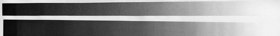 Режим 600 dpi normal. Отпечаток НР наверху, Wellprint – внизу. Такое расположение сохраняется на нижеследующих сканах