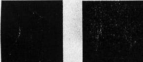 НР слева, Wellprint справа. После 10 истирающих движений