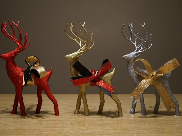Распечатать модель оленя под ёлку на 3d принтере