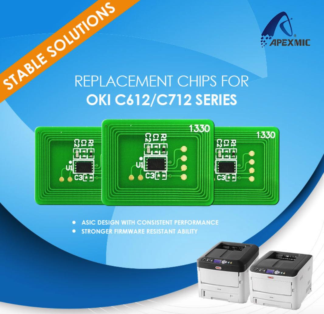 чипы для oki c612