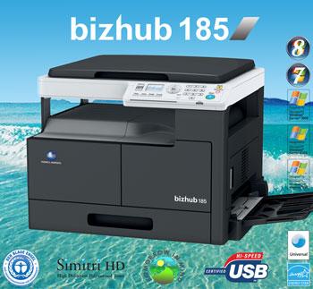 МФУ Konica Minolta bizhub 185 – выбор для тех, кому требуется надежное и доступное офисное устройство, совмещающее в себе возможности принтера, сканера и копира.