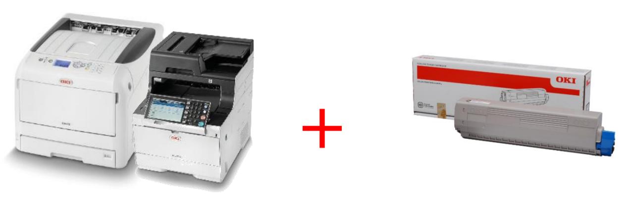 Акция - при покупке принтер OKI тонер-картридж в подарок!