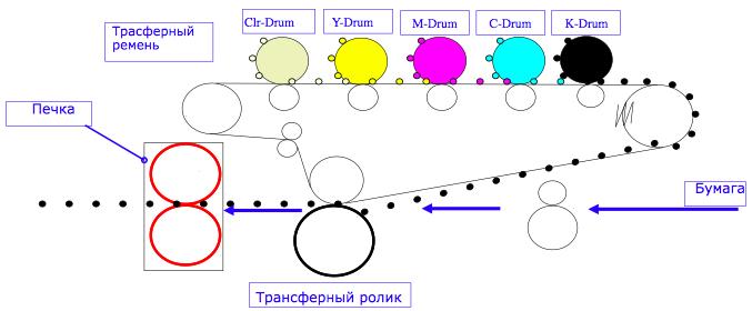 прометуточный трансферный ремень oki