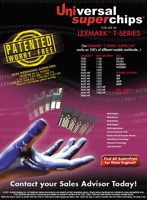 чип для Lexmark