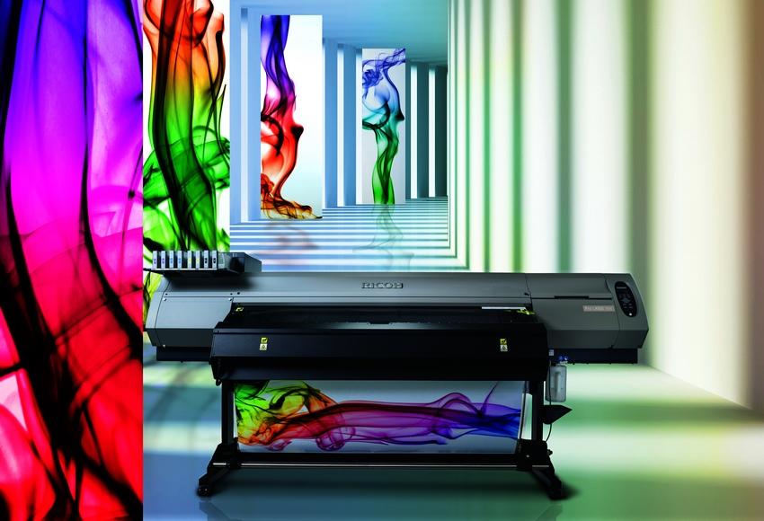 широкоформатный принтер с латексными чернила Ricoh