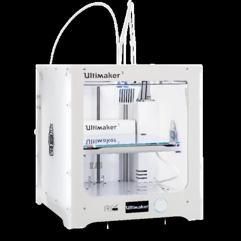 3D принтер Ultimaker 3 - новый 2-х экструдерный 3D-принтер.