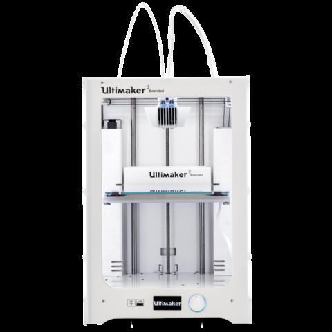 3D принтер Ultimaker 3 Extended - новая 2-х экструдерная модель с увеличенной областью печати.