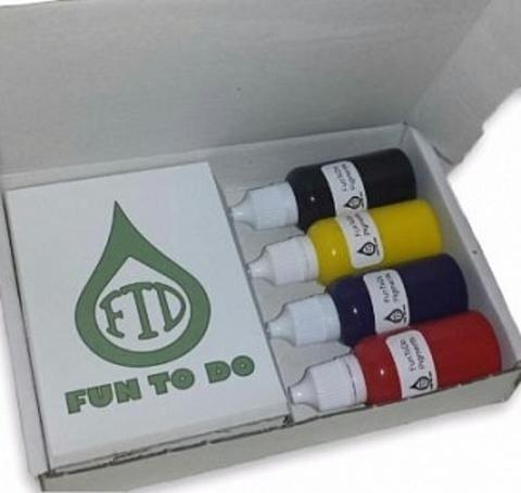 Пигменты добавляются в фотополимерную смолу Fun To Do для получения необходимого цвета.